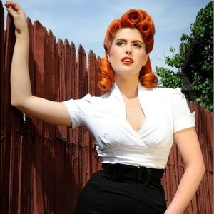 Pinup Girl Couture White Lauren Top